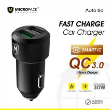 Fast Charge QC 3.0 Car Charger 2-port 30W