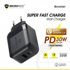 Fast Charge QC 3.0 Wall Charger Type-C PD 30W